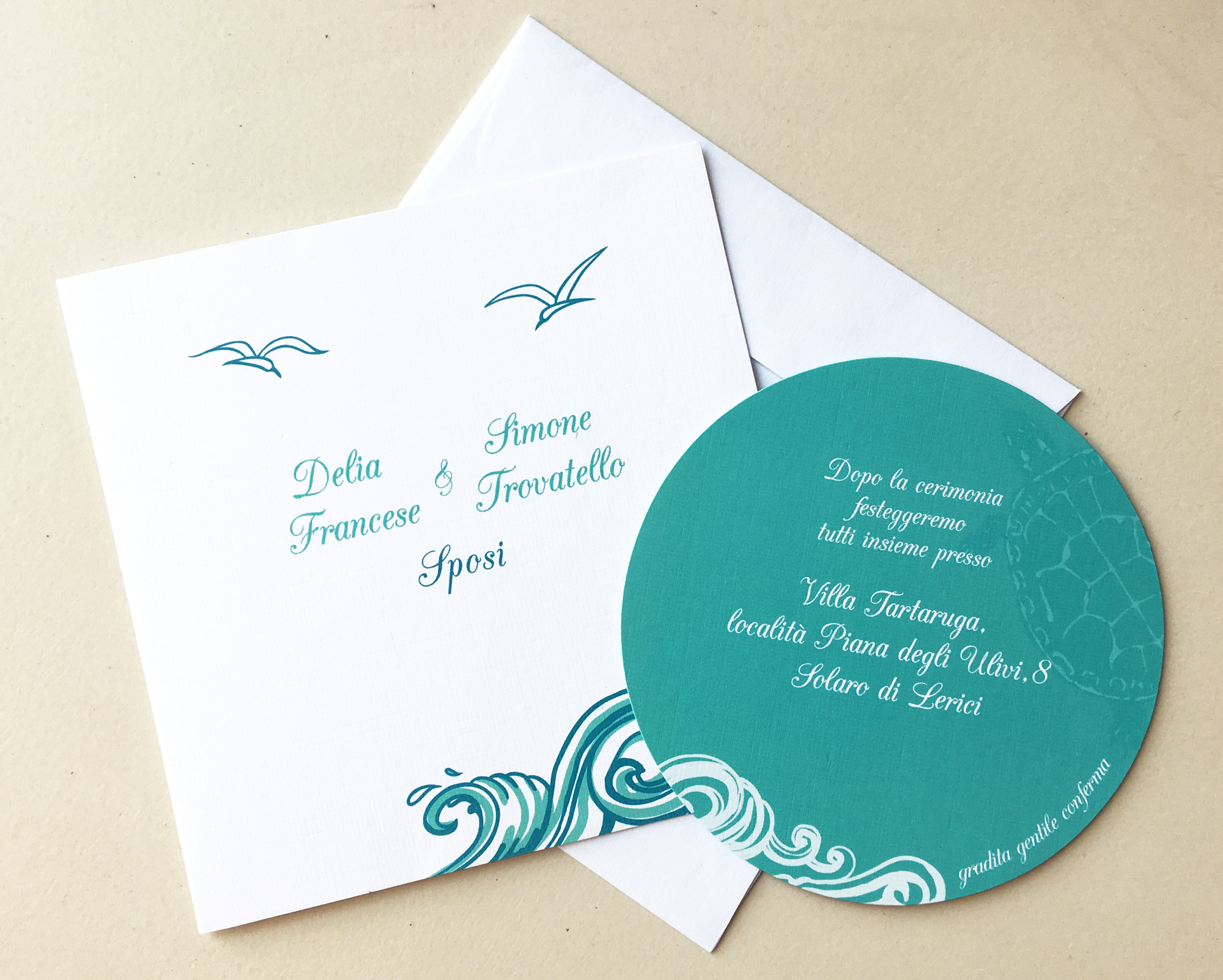Partecipazioni Matrimonio Color Tiffany.Invito Matrimonio E Partecipazione Shakti Creative Service